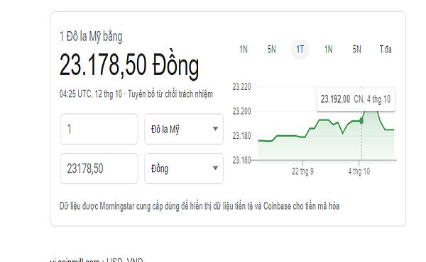 100 đô la Mỹ bằng bao nhiêu tiền Việt hôm nay