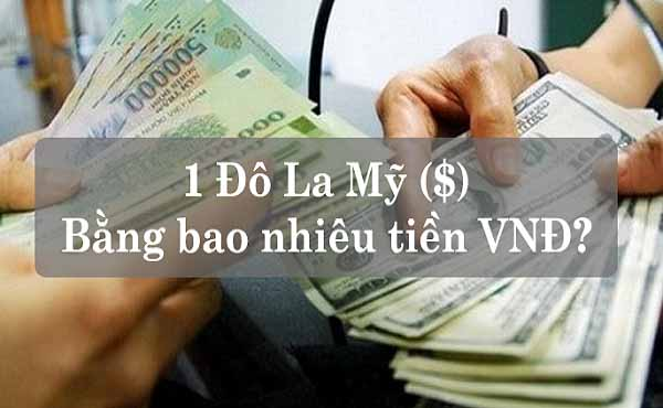 1 đô bằng bao nhiêu tiền Việt đây là câu hỏi được nhiều người quan tâm