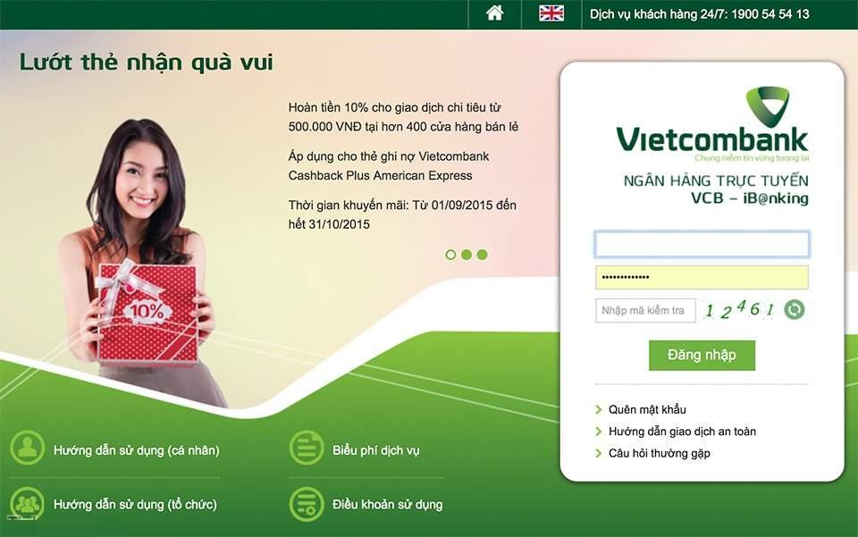 Đăng nhập Internet Banking