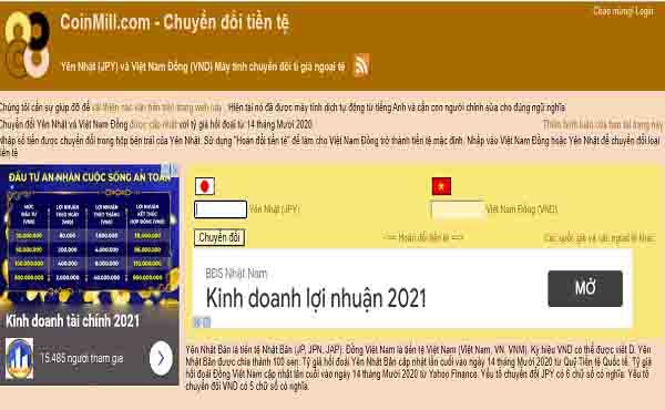 Công cụ trực tuyến chuyển đổi Yên Nhật sang tiền Việt nhanh chóng
