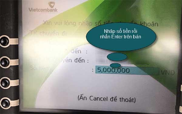 Cách chuyển tiền qua ATM