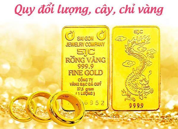 1 lượng vàng bằng bao nhiêu chỉ